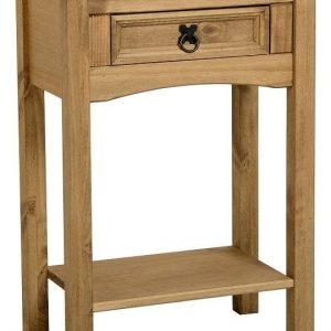 Corona 1 Drawer Console Table with Shelf Pine 1