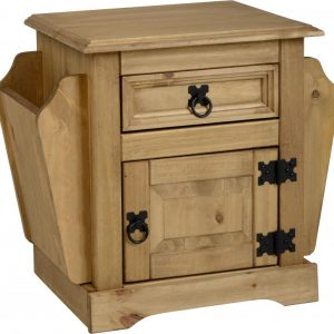 Corona 1 Drawer Magazine Table Pine