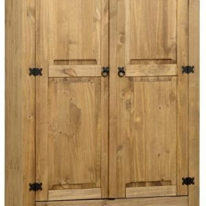 Corona 2 Door 1 Drawer Wardrobe Pine 1