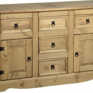Corona 2 Door 5 Drawer Sideboard Pine 1