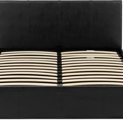 WAVERLEY 4'6 STORAGE BED BLACK PU 2021 200-203-047 05