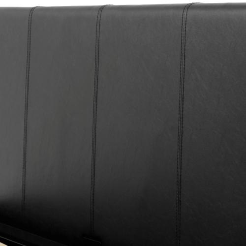 WAVERLEY 4'6 STORAGE BED BLACK PU 2021 200-203-047 09