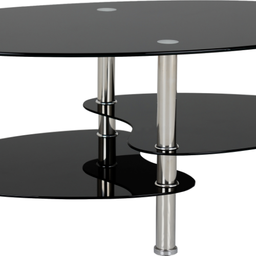 CARA COFFEE TABLE BLACK GLASSSILVER 2019 01 300 301 007