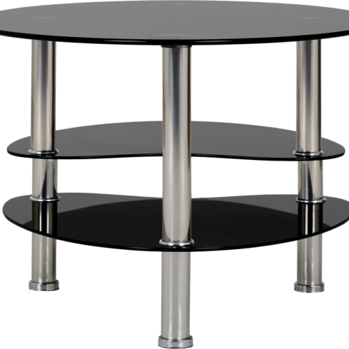 CARA COFFEE TABLE BLACK GLASSSILVER 2019 04 300 301 007
