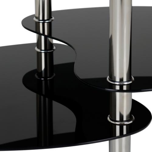 CARA COFFEE TABLE BLACK GLASSSILVER 2019 05 300 301 007