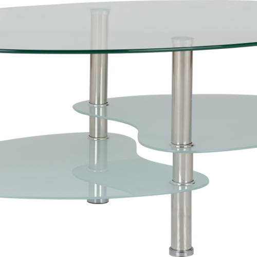 CARA COFFEE TABLE CLEARFROSTED GLASSSILVER 2019 01 300 301 008