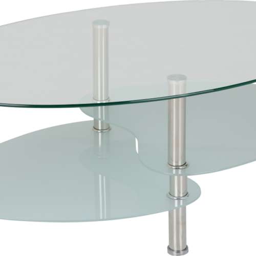 CARA COFFEE TABLE CLEARFROSTED GLASSSILVER 2019 02 300 301 008