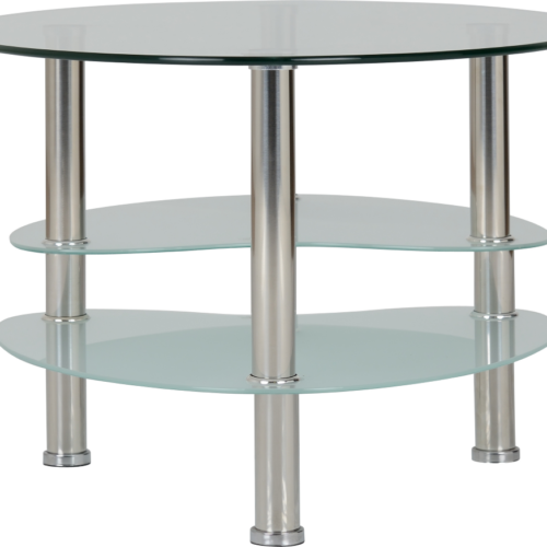 CARA COFFEE TABLE CLEARFROSTED GLASSSILVER 2019 04 300 301 008