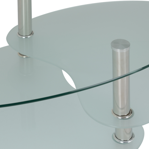 CARA COFFEE TABLE CLEARFROSTED GLASSSILVER 2019 05 300 301 008