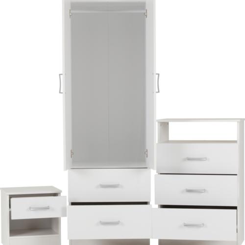 POLAR BEDROOM SET WHITE 2019 02 100 108 004