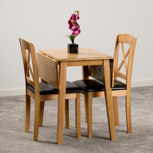 MASON DOUBLE DROP LEAF DINING SET OAK VARNISHBROWN PU 2020 400-401-170 05