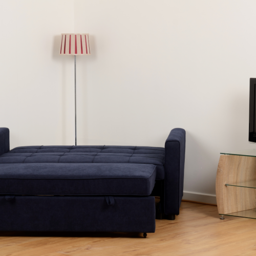 ASTORIA SOFA BED NAVY BLUE FABRIC 2019 12 300 308 043