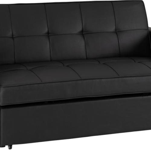 ASTORIA SOFA BED BLACK PU 2020 300 308 055 01
