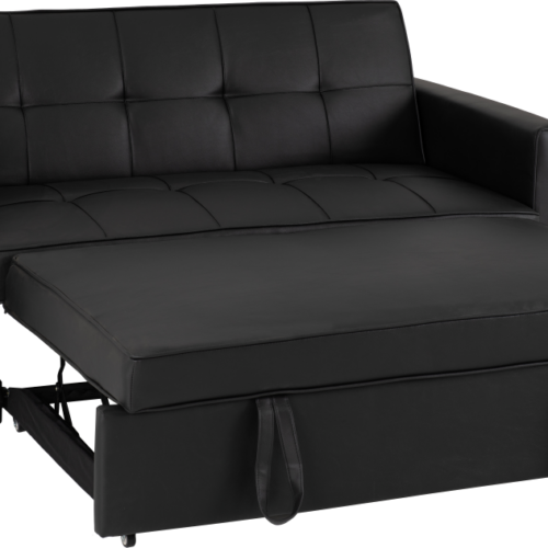 ASTORIA SOFA BED BLACK PU 2020 300-308-055 05