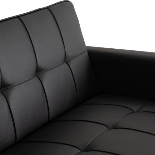 ASTORIA SOFA BED BLACK PU 2020 300-308-055 09