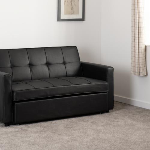 ASTORIA SOFA BED BLACK PU 2020 300-308-055 10
