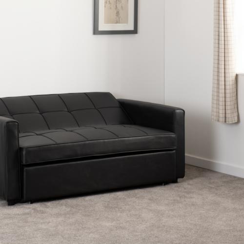 ASTORIA SOFA BED BLACK PU 2020 300-308-055 11