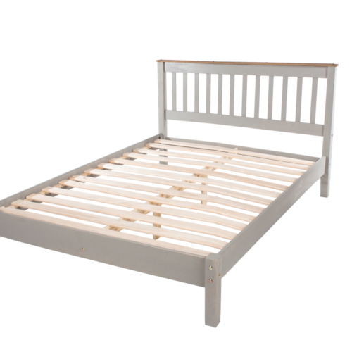 "CRG460LE Corona Washed Grey 4'6"" Lowend Grey Bed"