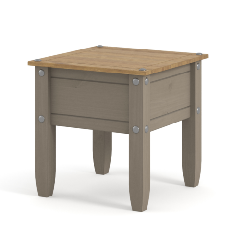 CRG906 Corona Washed Grey lamp table