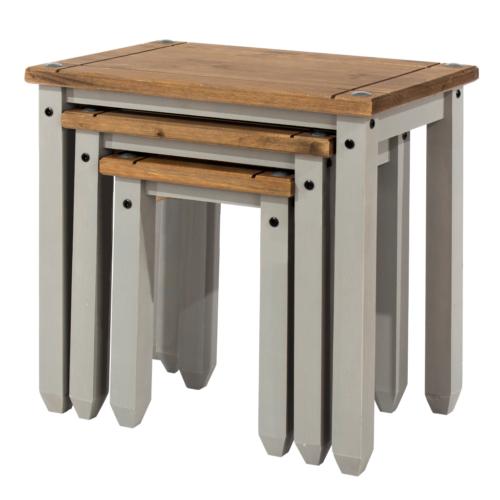 CRG907 Corona Washed Grey Nest of Tables