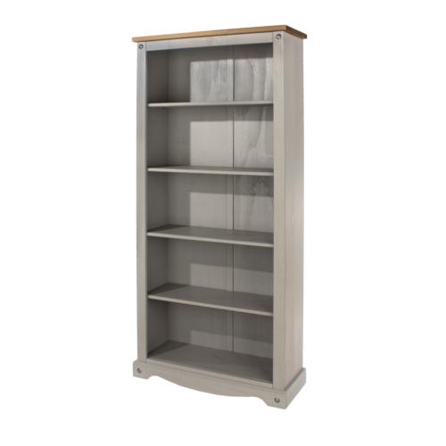 CRG924 Corona Washed Grey Tall Bookcase