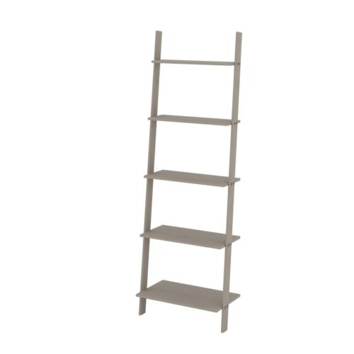 CRG954 Corona Washed Grey Ladder Design Tall Bookcase Shelf Unit