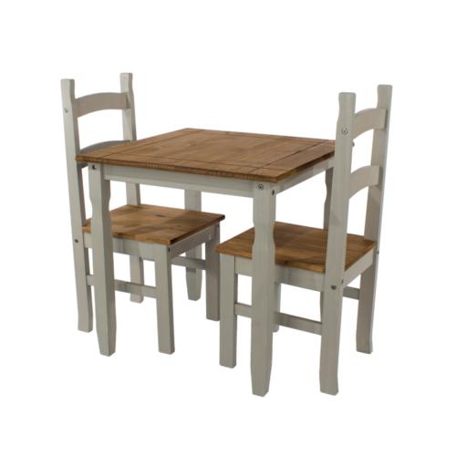 CRGTBSET1 Corona Washed Grey dining table set