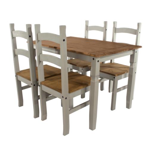 CRGTBSET3 Corona Washed Grey Dining table Set