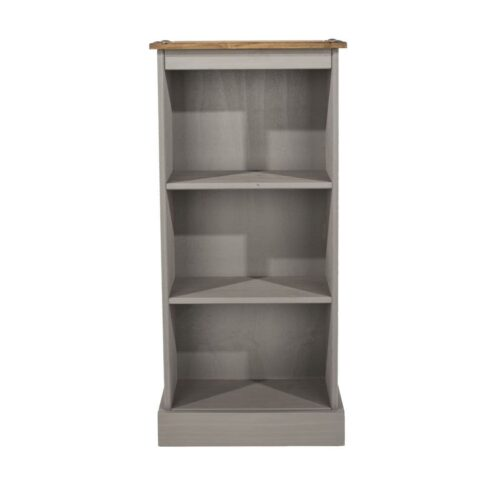 Washed Grey Low Bookcase